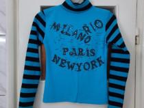 Bluza bleu cu model dama / fete marimea XS / XXS - Noua