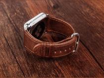 Curea ceas iCarer, Apple Watch 42mm, piele naturala,maro