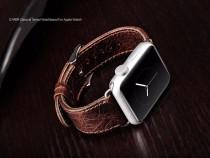 Curea ceas iCarer, Apple Watch 42mm, piele naturala,coffee