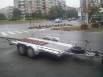 Transport cu platforma masini-tractoare,unelte agricole