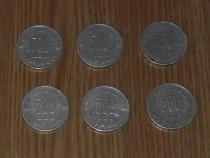 Lot 6 monede 500 lei 1999