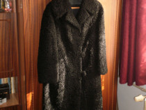 Palton lung din blana de astrahan, pentru femei