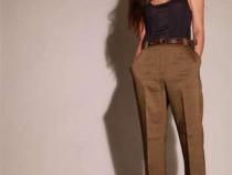 Pantaloni office zara - maro + cadou surpriza