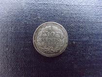 10 Cents 1928 Nederlanden Wilhelmina, din argint-de colectie