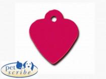 Medalion Inima Mica Pet Scribe Rosu