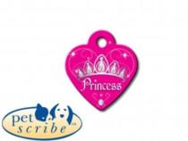Medalion Inima Mica Pet Scribe Roz Princess