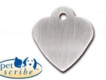 Medalion Inima Mica Pet Scribe Inox mat 7323-20
