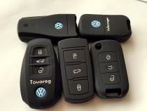 Husa cheie cu 3 butoane VW Golf 5,6,Passat,Touareg Noua
