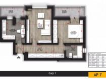 Apartament 2 camere 64mp imobil nou Titan Auchan
