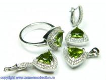 Set bijuterii argint rodiat zultanit Model ST159231