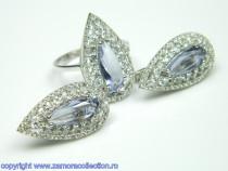 Set bijuterii argint rodiat Model ST908533