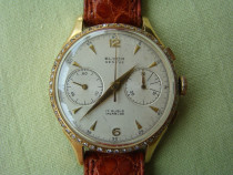 Rar chronographe suisse (landeron 148) - aur 18k si diamante