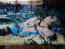 O Carpeta plusata, cu pasari Egrete,China.Produsul este NOU