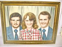 6222-Rama lemn cu Foto Familie, stare buna.