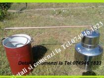 Cazan din Inox,pt Tuica.Cap. 60 de litri+Serpentina+Vas pt a