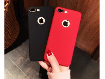 Iphone 7 Husa Ultra Slim Silicon Moale Rosie/Neagra