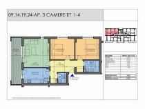 Apartament 3 camere 87mp utili - Metrou (7 min) - Comision 0