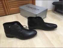 Pantofi piele interior-exterior,Catali,negri, 41,noi