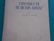 Construcții din beton armat/ vol. i/c.v. sahnovschi/1951