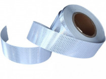 Banda reflectorizanta alba tip fagure 10cm x 25m