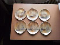Set de 6 farfurii pentru tort si platou