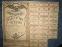 Actiuni vechi Romania-Imprumutul Intern-Titlu 2000 lei 1935.