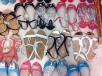 Sandale marimea 37, albe, negre, corai, turquoise