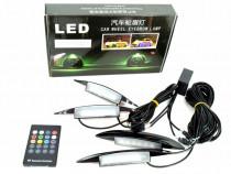 KIT lumina aripa LED SMD RGB cu telecomanda 12V