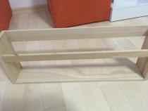 Suport de lemn pt ziare, nou, culoare bej deschis