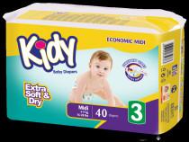 Scutece Kidy Baby 3 - 4-9 kg