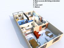 Apartament 3 camere, lux, 96 mp, etajul 1, 1 mai