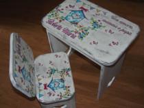 Set Masuta + scaunel (din lemn) pentru copii
