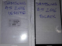 Samsung A5 2016 folie sticla full black / white