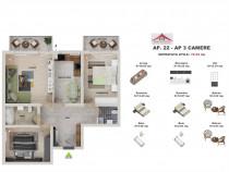 Apartament 3 camere la SUBCETATE si cu credite bancare