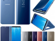 Samsung S8 S8+ Flip Case Oglinda Lucios Rose Negru Albastru
