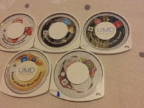 Pachet 6 jocuri originale UMD + carcasa consola PSP