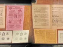 5 Reclame vechi de carti 3hartie si 2 carton anii 1920