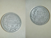 20 Filler 1894 KB nr2 moneda maghiara Imperiul Austro- Ungar