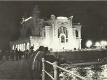 Carte postala Constanţa 1964, Cazinoul noaptea, circulată