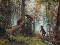 Goblen - Ursuleti in padurea de pini