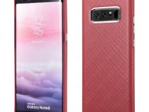 Husa piele naturala iCarer Samsung Note 8 fara clapeta rosu