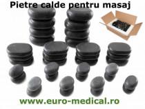 Set 36 pietre de bazalt ovale pentru masaj + Cadou aparatul