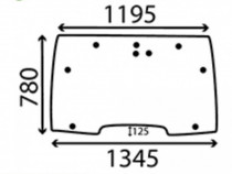 Parbriz tractor case 238520a2 , 238520a3