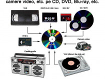 Transfer casete video, audio, vinil, etc. pe CD, DVD, etc.