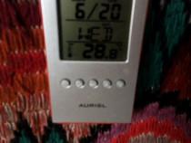 Ceas LCD Auriol,cu suport de pixuri,afiseaza temperatura,ora