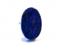 Inel reglabil din argint 925 si lapis lazuli mare