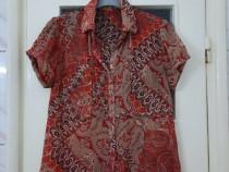 Bluza dama rosie cu model maneca scurta marimea M - Noua