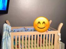 Pătuț pentru bebeluși din lemn masiv