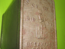 Cutie antica Walter Baker& Co. Inc. 1/2+-1b breakfast cocoa.