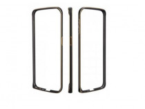 Husa Bumper Metal Samsung Galaxy Alpha g850 Black & Gold NOU